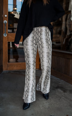 Python Bell Bottom Leggings 2502