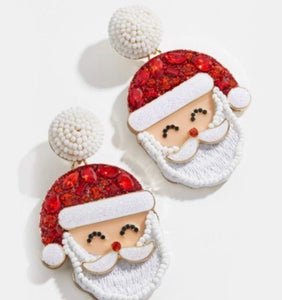 Santa Beaded Earring