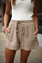 Cotton Gauze Shorts in Mushroom 2711