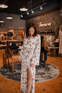Ivory Floral Maxi Dress 2510