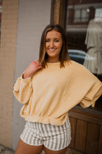 Mustard Cropped Knit Pullover 2623