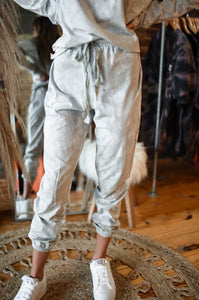 Light Grey Tie Dye Joggers 2988