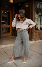 Comfy Chic Wide Leg Knit Pants in Olive 2620