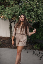 Taupe Long Sleeve Romper 2096
