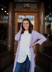 Lavender Pocket Cardigan 2473