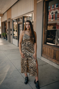 Leopard Slip Midi Dress 2237