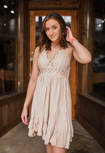 Boldly Boho Dress in Taupe 2667