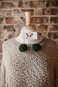 Ash Mocha Popcorn Sweater with Pockets 2399