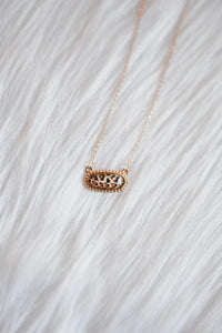 Leopard Oval Necklace