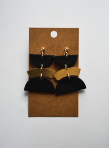 The Stevie Clay Earrings in Black