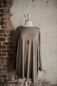 Mocha Oversized Sweater 2280