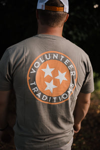 Volunteer Traditions Tristar Pocket Tee in Grey 2751