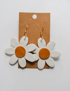 Daisy Clay Earrings