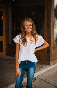 Tennessee Embroidered Boho Top 2719