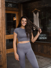 Work It Out Cropped Top in Mauve 2707