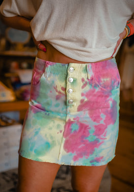Tie Dye Denim Skirt 2638