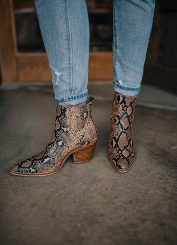 Brown Snake Booties 2259