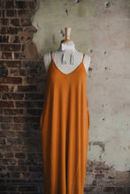 Orange Spaghetti Strap Maxi 2168