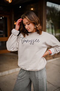 Tennessee Crew Sweatshirt in Sand 2617