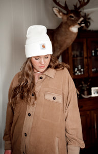 Camel Fleece  Shirt Jacket 2962