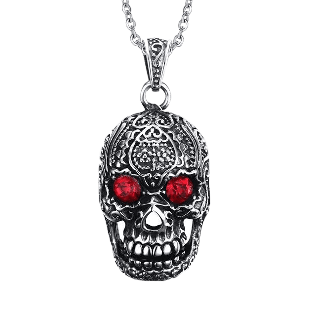 HYPNOTIST SKULL NECKLACE