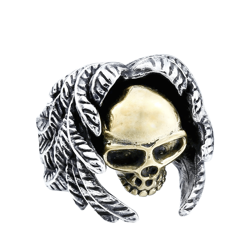 DREADLOCK SKULL RING