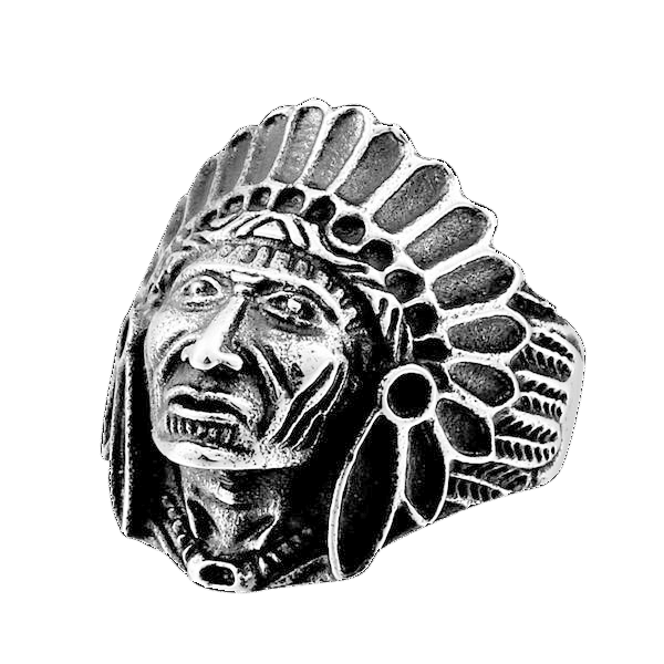 Apache Chief Ring 7 / Silver