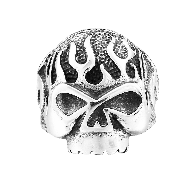 BURNING SKULL RING