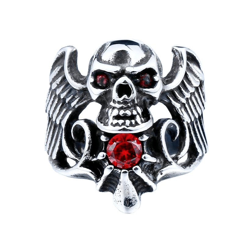 DEATH ANGEL SKULL RING