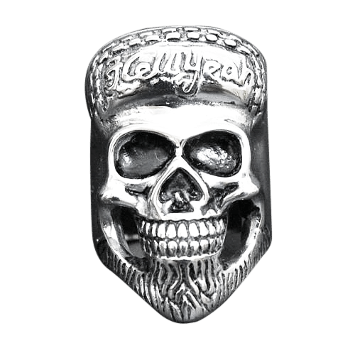 HUGE TWIST SKULL RING