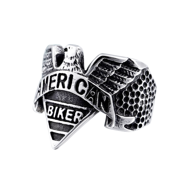American Biker Ring 7 / Gold Part
