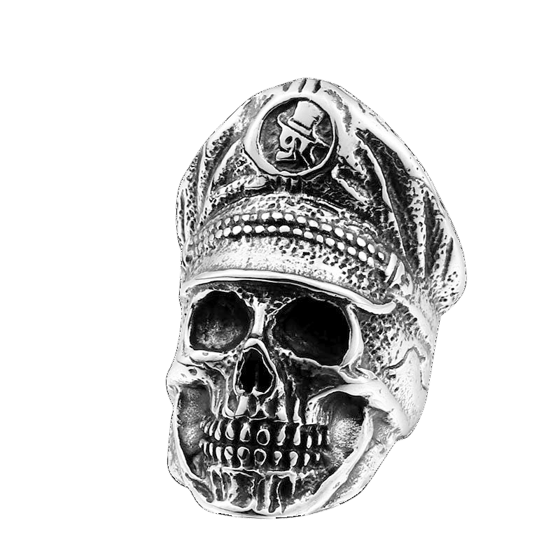 OFFICER DICTATOR SKULL RING