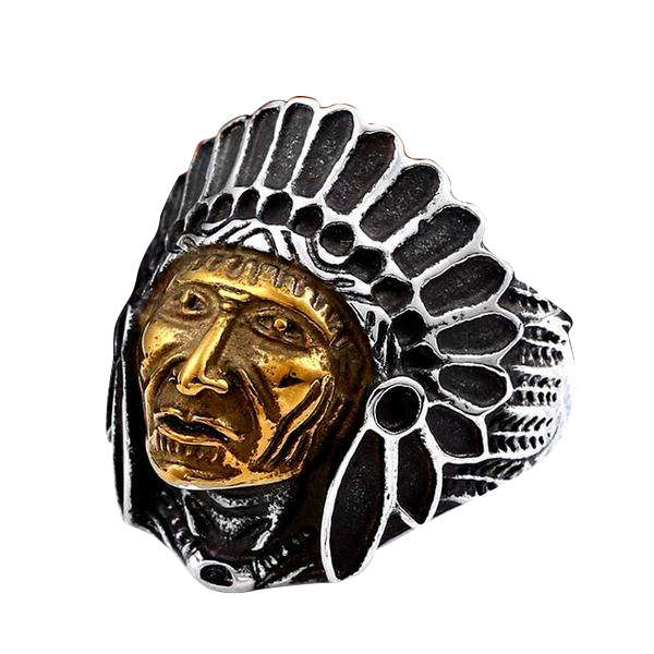 Apache Chief Ring 7 / Gold