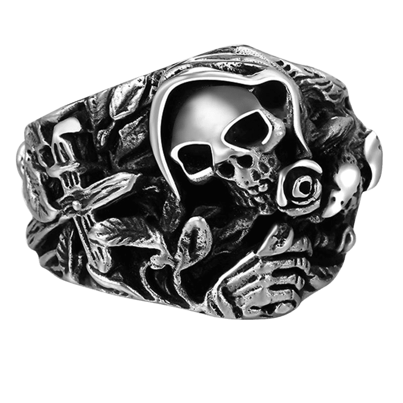 SKULL WIDOW RING