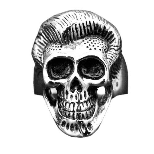ROCK N' ROLL SKULL RING