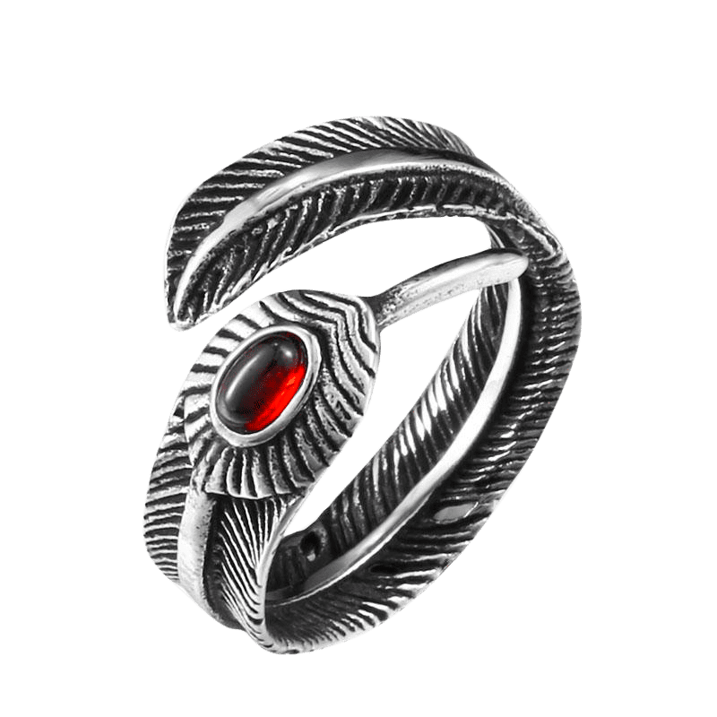 RED FEATHER RING