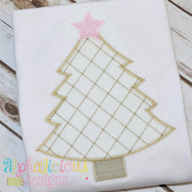 Simple Holiday Tree-ZigZag - Alphalicious Designs