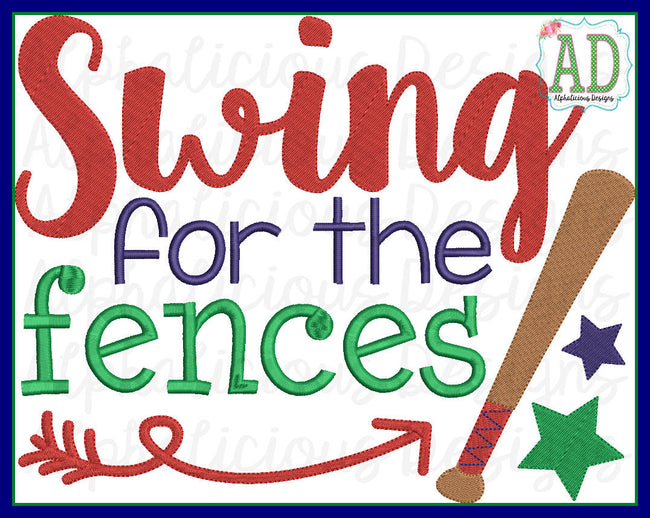Swing For The Fences Word Art - Alphalicious Designs