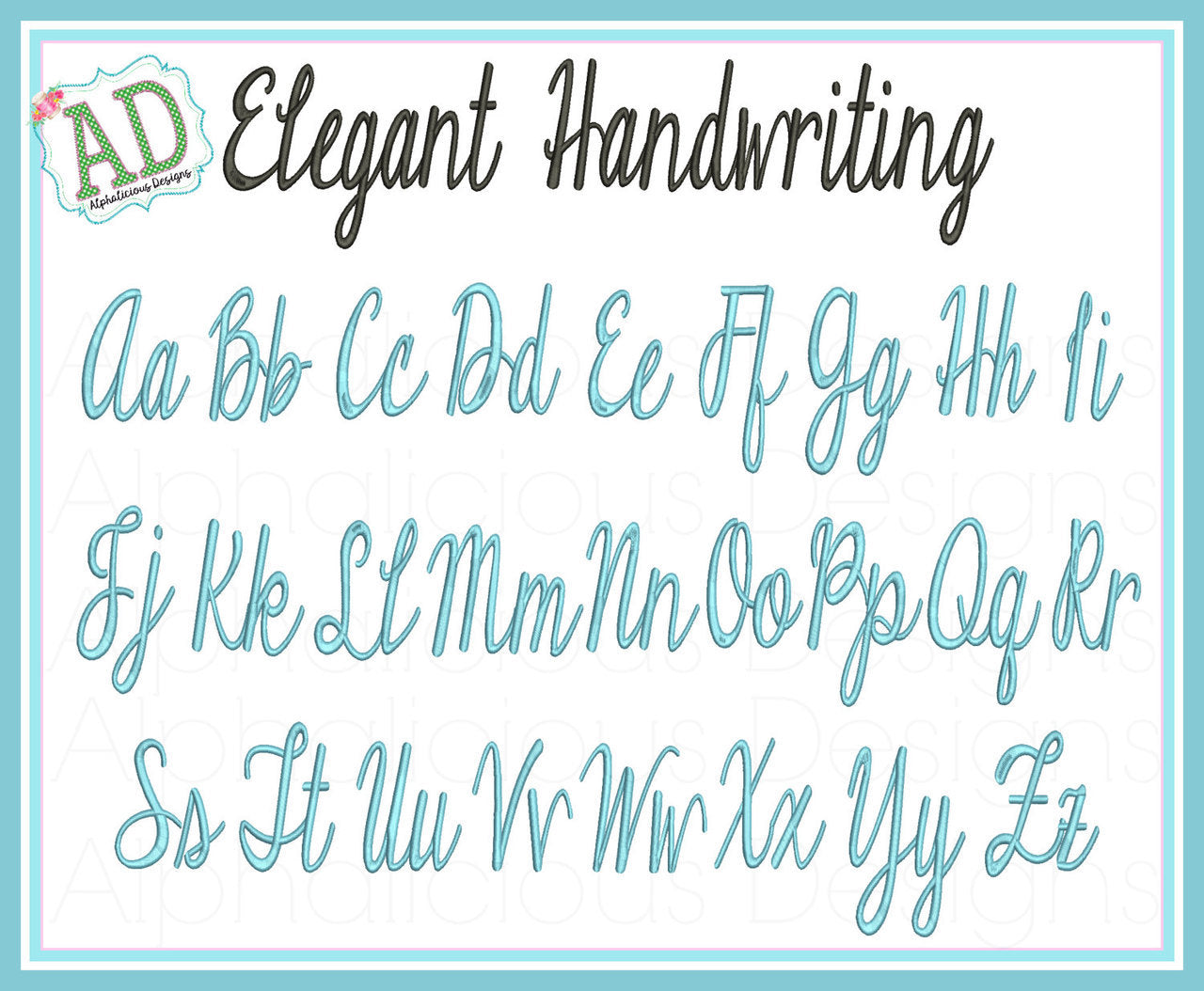 Elegant Handwriting Embroidery Font