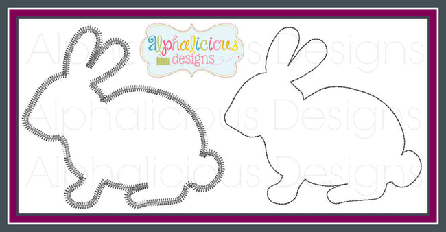 Rabbit Applique - Alphalicious Designs