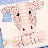 Farm Cow Applique Design - Blanket