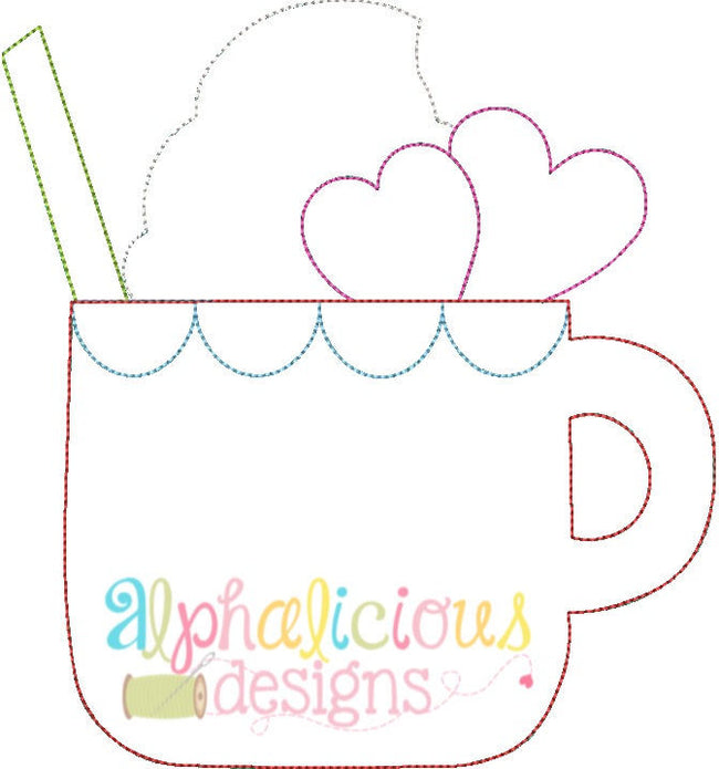 Sweetie Pie Sipper Applique Design- Triple Bean