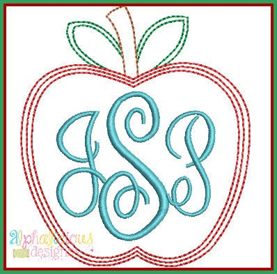 Scribble Stitch Apple