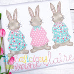 Mrs. Cottontail Three In A Row-Blanket