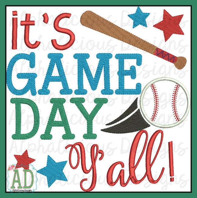 It's Game Day Yall Word Art - Alphalicious Designs