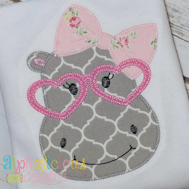 Happy Hippo Applique-Blanket - Alphalicious Designs