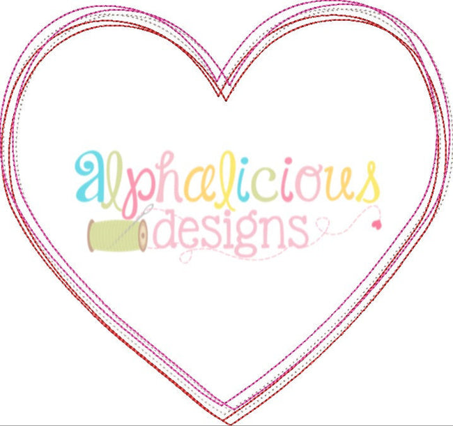 Scribble Heart - Alphalicious Designs