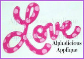 LOVE- Cursive Love Applique