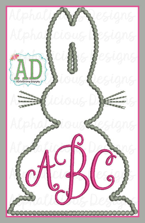 Easter Bunny for Monogram - Alphalicious Designs