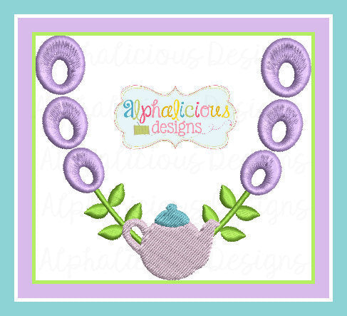 Laurel Teapot Frame MINI - Alphalicious Designs